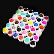 36 Colors 5ml Pretty Tips Nail Art DIY Decoration Set - Glitter Paillette
