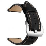 Δερμάτινο Λουράκι (Γνήσιο Δέρμα) για Huawei Watch GT / Watch 2 / Watch Magic - Μαύρο