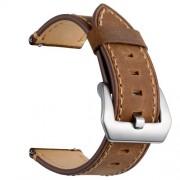 Δερμάτινο Λουράκι (Γνήσιο Δέρμα) για Huawei Watch GT / Watch 2 / Watch Magic - Καφέ