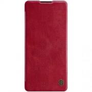 NILLKIN Qin Series Δερμάτινη Θήκη Πορτοφόλι για Samsung Galaxy S10 Lite / A91 - Κόκκινο