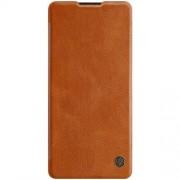 NILLKIN Qin Series Δερμάτινη Θήκη Πορτοφόλι για Samsung Galaxy S10 Lite / A91 - Καφέ