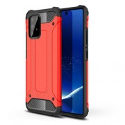 Armor Guard Plastic + TPU Hybrid Case for Samsung Galaxy A91/S10 Lite - Red