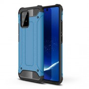 Armor Guard Plastic + TPU Hybrid Case for Samsung Galaxy A91/S10 Lite - Baby Blue
