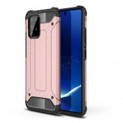 Armor Guard Plastic + TPU Hybrid Case for Samsung Galaxy A91/S10 Lite - Rose Gold