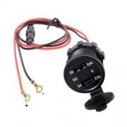 Motorcycle Waterproof Dual USB Adapter Electric Bicycle Handlebar Port Socket for Phone GPS MP4 Φορτιστής για Μηχανές