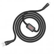 HOCO S4 Charging Data Cable with Timing Display for Lightning - Black