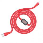 Hoco S4 USB σε Lightning Καλώδιο Γρήγορης Φόρτισης με ένδειξη Φόρτισης 1,2 μέτρο - Κόκκινο