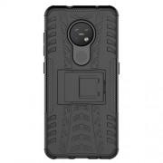 Υβριδική Θήκη Σιλικόνης και Πλαστικού με Βάση Στήριξης για Nokia 7.2 / 6.2 - Μαύρο