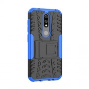 Anti-slip PC + TPU Combo Case with Kickstand for Nokia 4.2 (2019) - Blue
