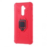 Finger Ring Kickstand Drop-proof TPU Case for Oppo Reno Ace/Realme X2 Pro - Red