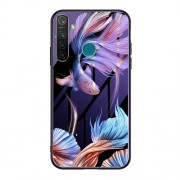 Luminous Tempered Glass PC + TPU Mobile Shell for Oppo Realme 5 Pro - Fish