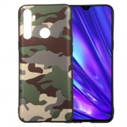 For OPPO Realme 5 Camouflage Style Pattern TPU Casing - Green