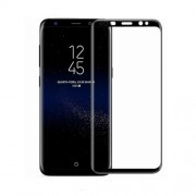 MOCOLO Full Coverage Silk Print Tempered Glass Screen Protector for Samsung Galaxy S8 G950 - Black