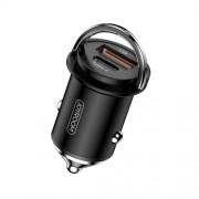 JOYROOM JR-C11 5A Type-C USB Smart Car Charger 45W PD QC 3.0 Charging - Black