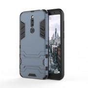 Cool Guard Kickstand PC TPU Hybrid Mobile Phone Case for Meizu M6T - Dark Blue