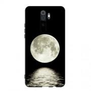 Θήκη Σιλικόνης TPU για Xiaomi Redmi Note 8 Pro - Φεγγάρι σε Μαύρο Φόντο