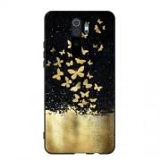 Θήκη Σιλικόνης TPU για Xiaomi Redmi Note 8 Pro - Χρυσές Πεταλούδες σε Μαύρο Φόντο