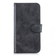 Δερμάτινη Θήκη Πορτοφόλι με Βάση Στήριξης (Όψη Vintage) για Motorola Moto G7 Play - Μαύρο