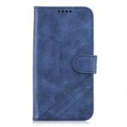 Δερμάτινη Θήκη Πορτοφόλι με Βάση Στήριξης (Όψη Vintage) για Motorola Moto G7 Play - Σκούρο Μπλε