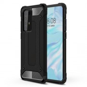 Armor Guard Plastic + TPU Hybrid Protective Case for Huawei P40 Pro - Black