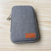 Oxford Cloth Electronics Travel Carrying Pouch for Cable/Power Bank etc; Size: 17 x 11 x 2cm - Grey