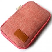Oxford Cloth Electronics Travel Carrying Pouch for Cable/Power Bank etc; Size: 17 x 11 x 2cm - Rose