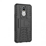 Cool Tyre PC + TPU Hybrid Cover with Kickstand for LG K40 / K12 Plus - Black