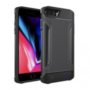 Portable Shockproof Charger Case External Battery Power Bank for iPhone 8 Plus/7 Plus/6 Plus/6s Plus - Black