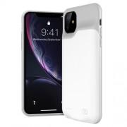 Θήκη με Ενσωμετωμένο Power Bank 6000mAh για iPhone 11 - Λευκό / Γκρι