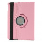 360 Degree Rotating Litchi Leather Stand Case for iPad Air w/ Wake up / Sleep Function - Pink