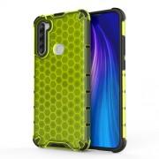 Υβριδική Θήκη Σιλικόνης με Πλαστική Πλάτη (Σχέδιο Κυψέλης Μελισσών) για Xiaomi Redmi Note 8T - Πράσινο