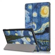 Δερμάτινη Θήκη Βιβλίο Tri-Fold με Βάση Στήριξης για Lenovo Tab M10 TB-X605F/TB-X505 - Έναστρη Νύχτα