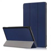 Δερμάτινη Θήκη Βιβλίο Tri-Fold με Βάση Στήριξης για Lenovo Tab M10 TB-X605F/TB-X505 - Σκούρο Μπλε