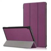 Δερμάτινη Θήκη Βιβλίο Tri-Fold με Βάση Στήριξης για Lenovo Tab M10 TB-X605F/TB-X505 - Μωβ