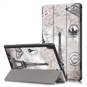 Δερμάτινη Θήκη Βιβλίο Tri-Fold με Βάση Στήριξης για Lenovo Tab E10 TB-X104F - Πύργος του Άιφελ