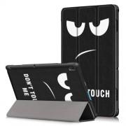Δερμάτινη Θήκη Βιβλίο Tri-Fold με Βάση Στήριξης για Lenovo Tab E10 TB-X104F - Do Not Touch Me