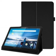 For Lenovo Tab P10 10.1-inch Litchi Texture Leather Stand Protection Case - Black