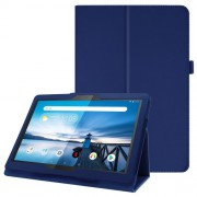 For Lenovo Tab P10 10.1-inch Litchi Texture Leather Stand Protection Case - Dark Blue