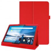 For Lenovo Tab P10 10.1-inch Litchi Texture Leather Stand Protection Case - Red