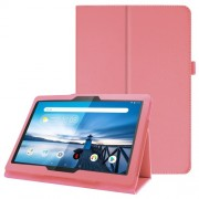 For Lenovo Tab P10 10.1-inch Litchi Texture Leather Stand Protection Case - Pink