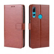 Crazy Horse Leather Wallet Case for Huawei Honor 9X (Global)/ P Smart Z / Y9 Prime 2019 /Enjoy 10 Plus - Brown