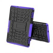 Υβριδική Θήκη Σιλικόνης σε Συνδυασμο με Πλαστικό για Huawei MediaPad T5 10 - Μαύρο / Μωβ