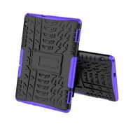 Anti-slip PC + TPU Hybrid Cover Shell with Kickstand for Huawei MediaPad T5 10 - Purple