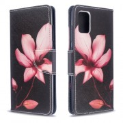 Pattern Printing Wallet Leather Flip Cover Case for Samsung Galaxy A51 - Flower