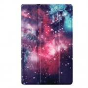 Pattern Printing Tri-fold Stand Leather Smart Case for Samsung Galaxy Tab A 10.1 (2019) SM-T515 - Galaxy Pattern