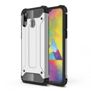 Armor Guard Plastic + TPU Hybrid Phone Cover for Samsung Galaxy M20 - Silver
