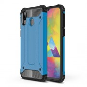 Armor Guard Plastic + TPU Hybrid Phone Cover for Samsung Galaxy M20 - Baby Blue