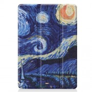 Pattern Printing PU Leather Tri-fold Stand Tablet Case for iPad 10.2 (2019) - Abstract Painting