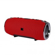 Portable Wireless Bluetooth Speaker Outdoor Stereo Sound Box with Mic - Red