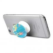 Marble Pattern Chic Expanding Grip Holder Mount Cord Winder for Smartphones - Blue